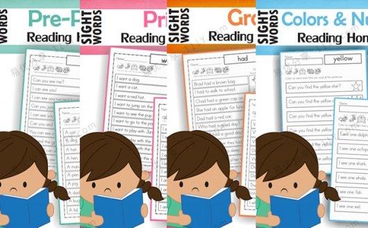 《sightword reading homework》全四册高频词英文练习册 百度网盘下载