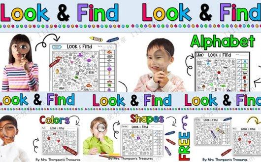 《Look&Find》寻物查找五册专注力练习PDF 百度网盘下载