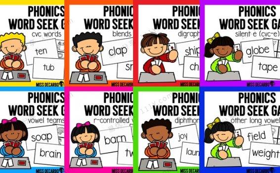 《Phonics Word Seek Game英语启蒙游戏》八册自然拼读练习PDF 百度网盘下载