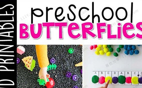 《Preschool Butterflies》英语启蒙蝴蝶毛毛虫互动书 百度网盘下载