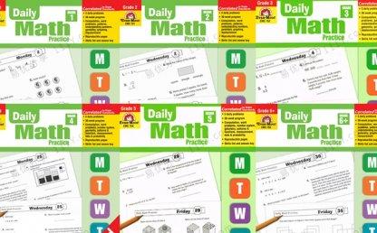 《Daily Math Practice G1-G6》6册数学每日练习英文教材PDF 百度网盘下载