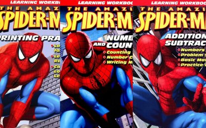 《SPIDERMAN早教启蒙作业纸》三册全彩PDF英文练习册 百度网盘下载