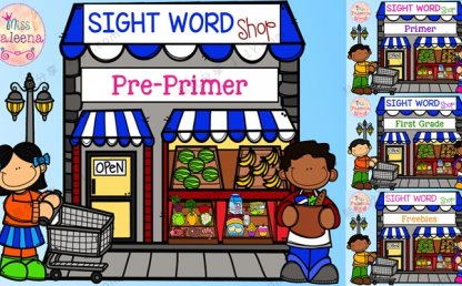 《sight word shop》购物主题高频词涂色英文练习四册 百度网盘下载