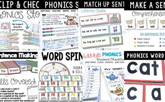 《Phonics MEGA Bundle 1 and sentences》8册英语启蒙活动练习 百度网盘下载