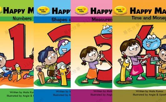 《HappyMaths快乐数学》形状时间英文原版教材四册 百度网盘下载