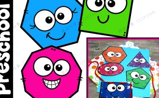 《Preschool Shapes》形状认知早教启蒙教学教材PDF 百度网盘下载