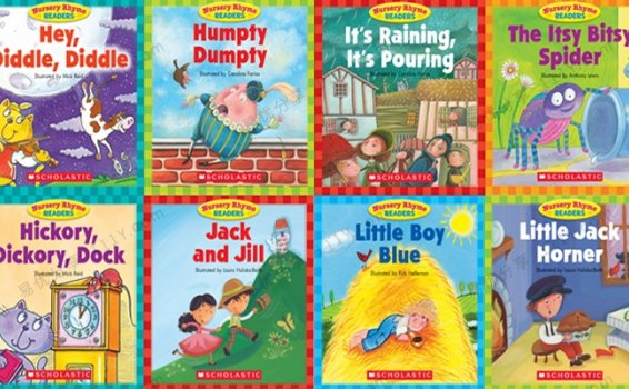 《Scholastic Nursery Rhyme Readers》英文童谣绘本12册PDF+MP3 百度网盘下载