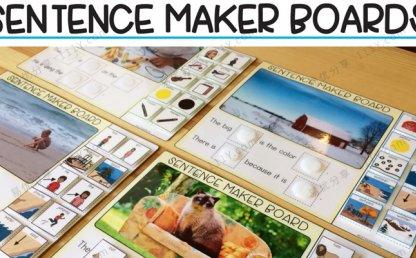 《sentence maker boards》句子组合练习作业纸安静书PDF 百度网盘下载