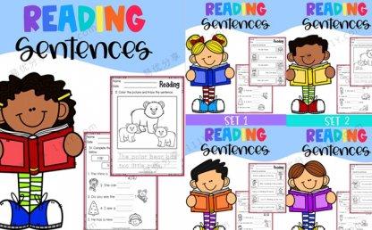 《Reading Sentences》英语阅读英文练习册全5册PDF 百度网盘下载