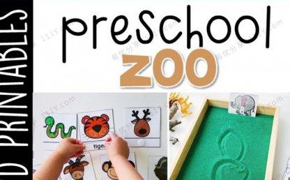 《Preschool Zoo》幼儿园主题互动书技能启蒙PDF 百度网盘下载