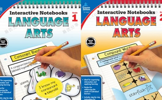 《LanguageArts Notebooks》英文互动笔记本G1&G2两册 百度网盘下载