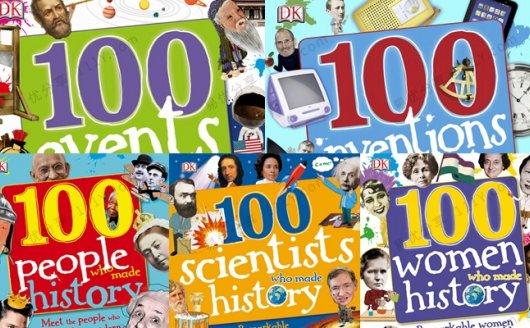 《100 in History》DK历史人物五册英文绘本杂志PDF 百度网盘下载