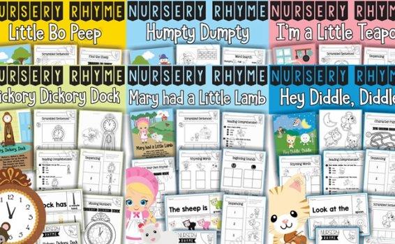《NURSERY RHYME》9册英文儿歌作业纸练习册PDF 百度网盘下载