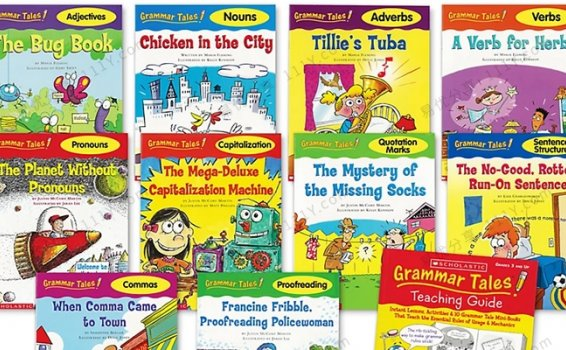 《Grammar Tales》学乐语法绘本故事10册PDF+MP3 百度网盘下载
