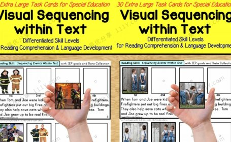《visual sequencing within text》两册1&2英语排序练习册 百度网盘下载