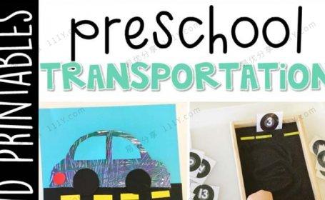 《Preschool Transportation》交通运输主题互动书技能启蒙PDF 百度网盘下载