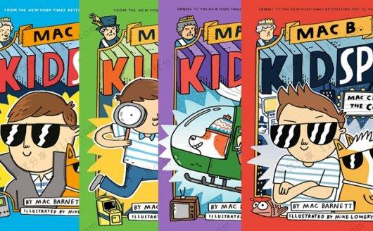 《Mac B. Kid Spy》彩色儿童推理侦探英文绘本四册PDF 百度网盘下载