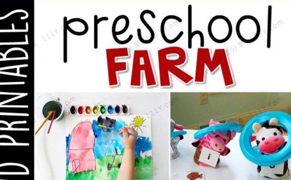 《Preschool Farm》幼儿园农场主题互动书技能启蒙PDF 百度网盘下载