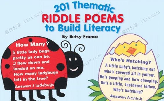 《201 Thematic Riddle Poems》学乐英文谜语诗PDF 百度云网盘下载