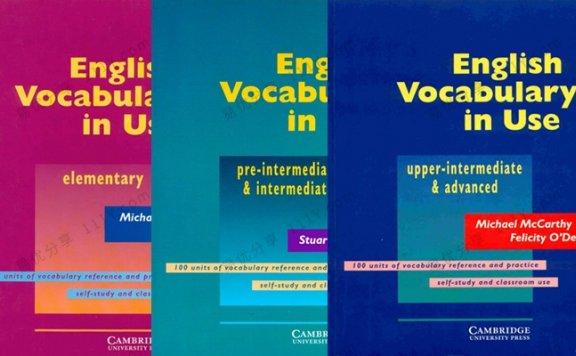 《English Vocabulary in Use》三册英语词汇学习书PDF 百度网盘下载