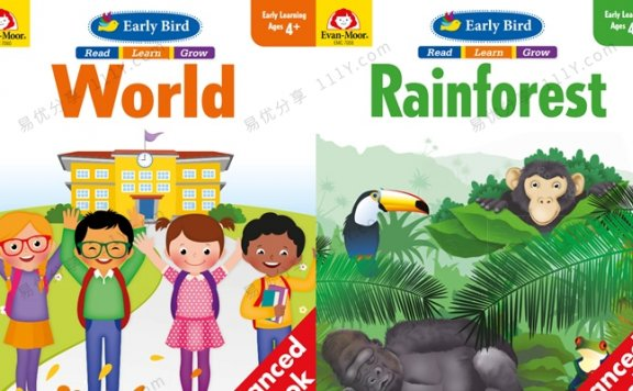 《Early Bird-world&rainforest》英语启蒙主题英文教材PDF 百度网盘下载