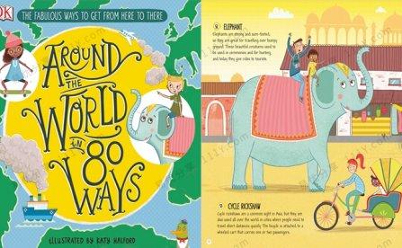 《Around The World In 80 Ways》DK绘本环游世界的80种方式 百度网盘下载