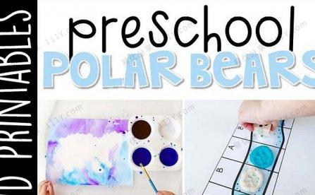 《Preschool Polar Bears》幼儿园北极熊主题互动书技能启蒙PDF 百度网盘下载