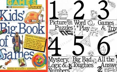 《kids big book of Games》英文口语练习互动游戏书PDF 百度网盘下载