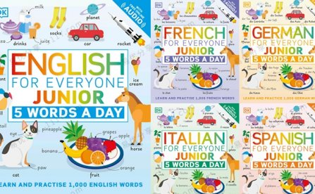 《Junior 5 Words a Day》每天五个单词英语版多语种PDF 百度网盘下载
