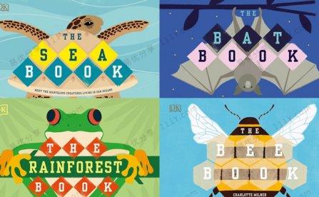 《The Bee/Bat/Sea/Rainforest Book》四册百科知识英文绘本PDF 百度网盘下载