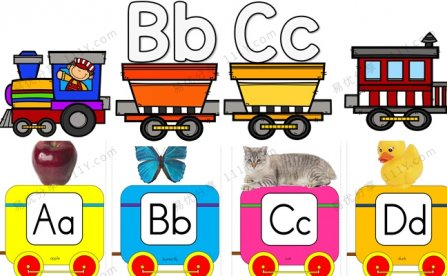 《Alphabet Train》两套26个字母火车英文教具PDF 百度网盘下载