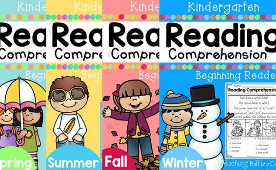《Kindergarten Reading Comprehension》春夏秋冬英文练习册PDF 百度网盘下载
