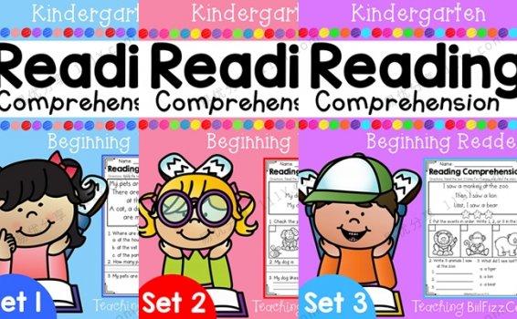 《Kindergarten Reading Comprehension》英文阅读理解练习三册PDF 百度网盘下载