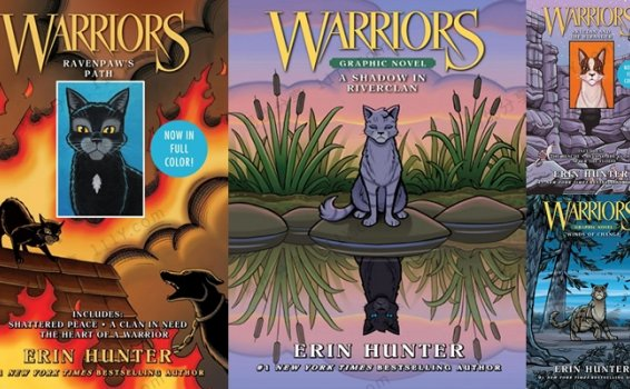 《Warriors Graphic Novel》猫武士四册儿童漫画英文绘本 百度网盘下载