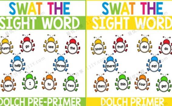 《Swat the Sight Word》打虫子高频词趣味互动游戏教具PDF 百度网盘下载