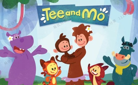 《Tee and Mo小提与莫莫》50集英文版认知启蒙动画视频 百度网盘下载