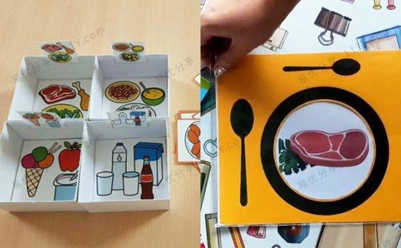 《两套食物主题实用英文教具》Food sorting含空白模板PDF 百度网盘下载
