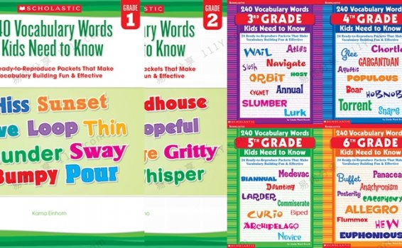 《240 Vocabulary Words Kids Need to Know》词汇练习册G1-G6附答案 百度网盘下载