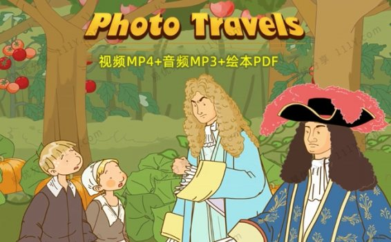 《Photo Travels奇幻照片之旅》动画MP4+音频MP3+绘本PDF 百度网盘下载