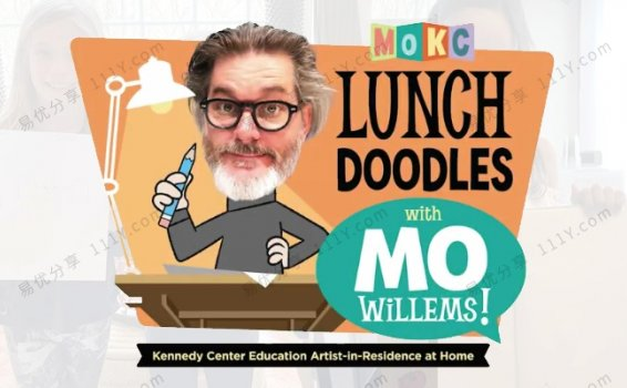 《LUNCH DOODLES with Mo Willems》小猪小象绘画美术课视频 百度网盘下载