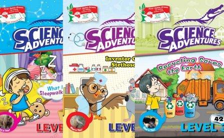 《Science Adventures》Level1-3英文自然科学漫画绘本 百度网盘下载
