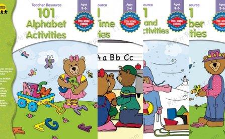 《101 Alphabet Activities》四册亲子课堂互动游戏书PDF 百度网盘下载