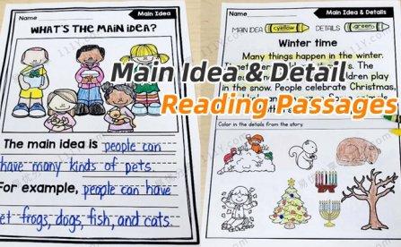 《Main Idea & Detail Reading Passages》44页阅读理解练习纸PDF 百度网盘下载