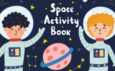《Space Activity book》112页宇宙主题专注力英文练习册PDF 百度网盘下载