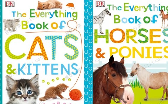 《The Everything Book》DK英文绘本Cats & Horses两册 百度云网盘下载