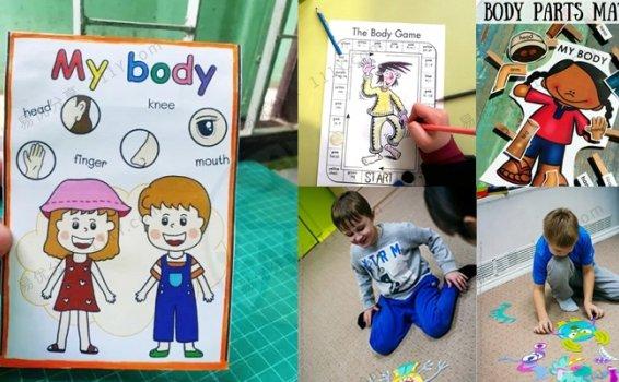 《My body身体部位》四套我的身体主题自制英文教具 百度网盘下载